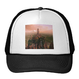 Abstract City Temple Of Light Trucker Hats