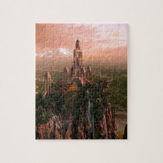 Abstract City Temple Of Light Jigsaw Puzzles