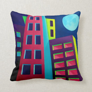Abstract City Throw Pillow