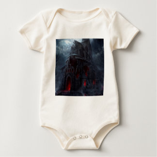 Abstract City Vampire Mill Baby Bodysuit