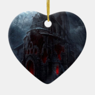 Abstract City Vampire Mill Ceramic Ornament