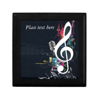 Abstract Cleft Note and Microphone Gift Box