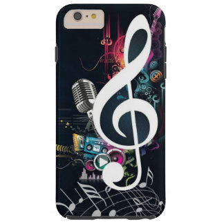 Abstract Cleft Note and Microphone Tough iPhone 6 Plus Case