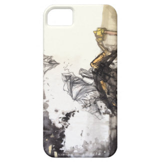 Abstract Cliffs Mountains Calligraphy Phone Case