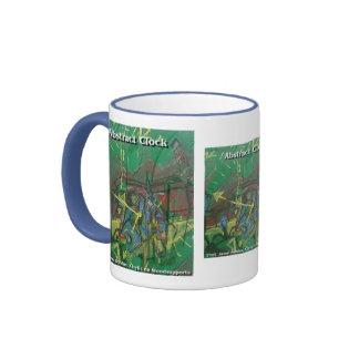 abstract clock coffee mug