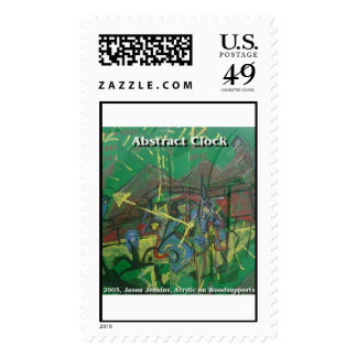 abstract clock postage