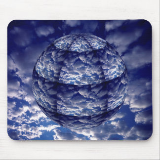 Abstract cloud 3D sphere Mouse Pad