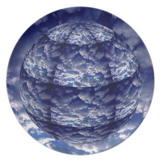 Abstract cloud 3D sphere Plate