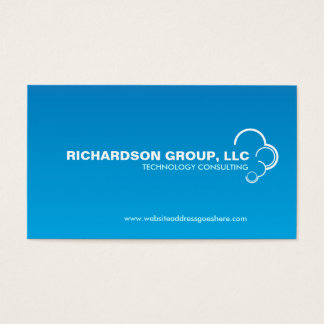 ABSTRACT CLOUD LOGO on BLUE GRADIENT Business Card