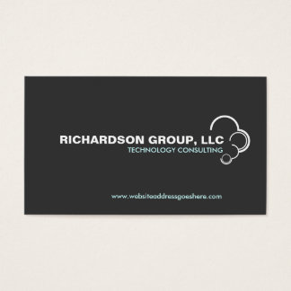 ABSTRACT CLOUD LOGO on DARK GRAY Business Card