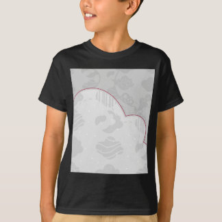 Abstract Clouds Monochrome Gray Design T-Shirt