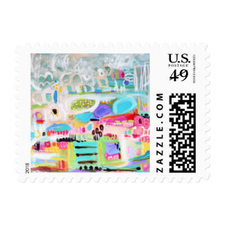 Abstract Clouds Postage