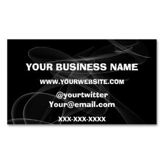 Abstract Clouds Vape Shops Magnetic Business Card