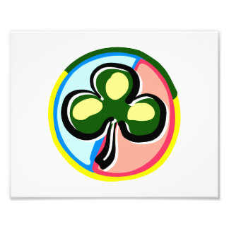 abstract clover colored circle behind.png photo print