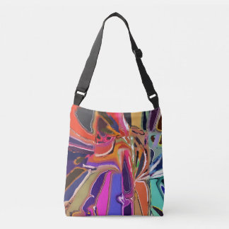 Abstract Clown Abstract Crossbody Bag