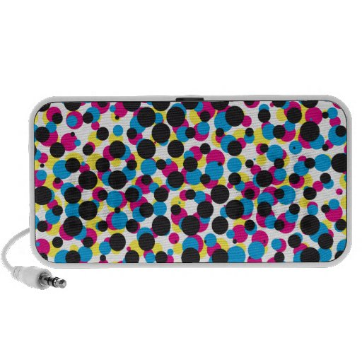 abstract CMYK halftone dot pattern, print texture Speakers