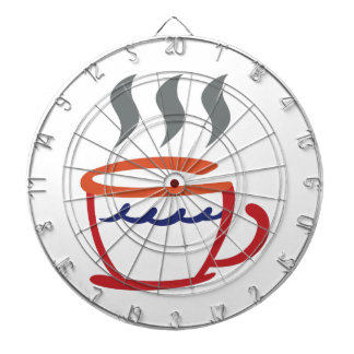 Abstract Coffee Cup Dartboard With Darts
