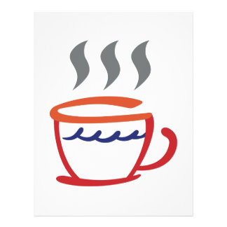 Abstract Coffee Cup Letterhead