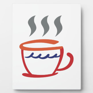 Abstract Coffee Cup Plaque