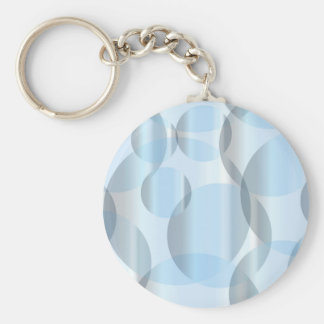 Abstract Cold Blue Circles Keychain