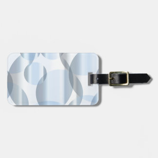 Abstract Cold Blue Circles Luggage Tag