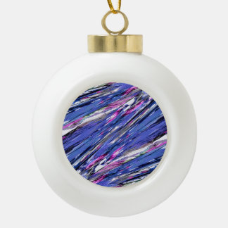 Abstract Collage Ceramic Ball Christmas Ornament