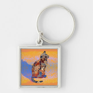 Abstract Collage Clarice the Cat ID103 Keychain