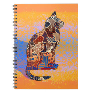 Abstract Collage Clarice the Cat ID103 Spiral Notebook