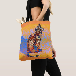 Abstract Collage Clarice the Cat ID103 Tote Bag