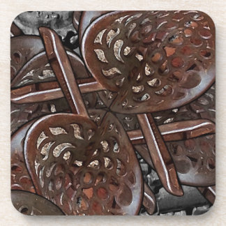 Abstract Collage Beverage Coasters