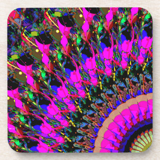 Abstract Collage of Colors Drink Coaster