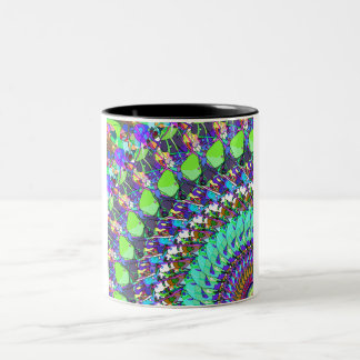 Abstract Collage of Colors Two-Tone Coffee Mug