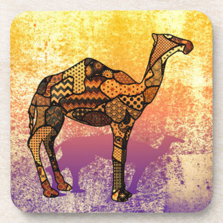 Abstract Collage Ozzy the Camel ID102 Beverage Coaster
