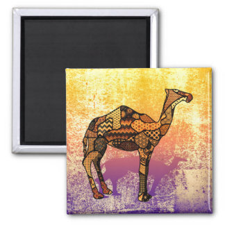 Abstract Collage Ozzy the Camel ID102 Magnet