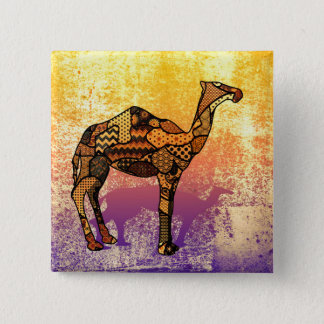 Abstract Collage Ozzy the Camel ID102 Pinback Button