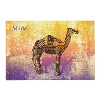 Abstract Collage Ozzy the Camel ID102 Placemat