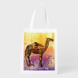 Abstract Collage Ozzy the Camel ID102 Reusable Grocery Bag