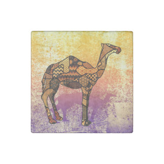 Abstract Collage Ozzy the Camel ID102 Stone Magnet