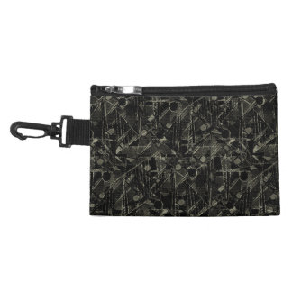 Abstract Collage Patchwork Pattern Accessory Bag