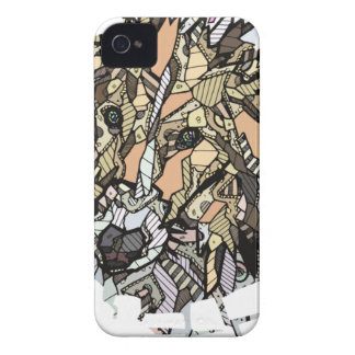 ABSTRACT COLLIE Case-Mate iPhone 4 CASE