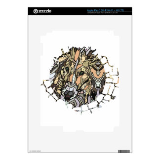 ABSTRACT COLLIE iPad 3 SKIN