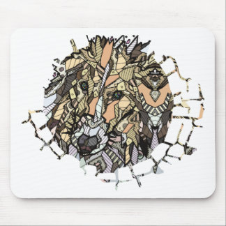 ABSTRACT COLLIE MOUSE PAD