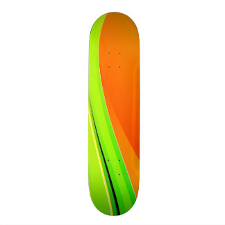 Abstract Color Background Custom Skate Board