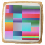 Abstract Color Boxes Square Premium Shortbread Cookie