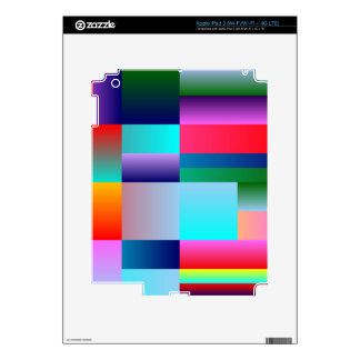 Abstract Color Boxes Decals For iPad 3