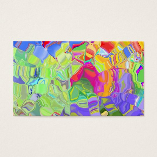 Abstract Color Business Card