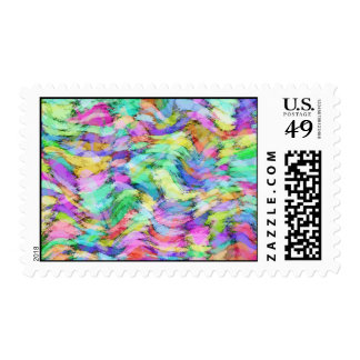 ABSTRACT COLOR DANCE POSTAGE