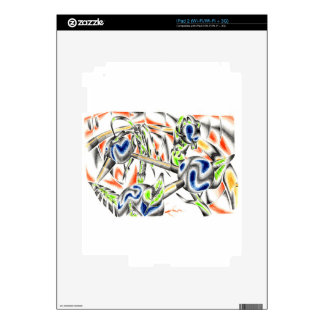 Abstract color design art decals for iPad 2