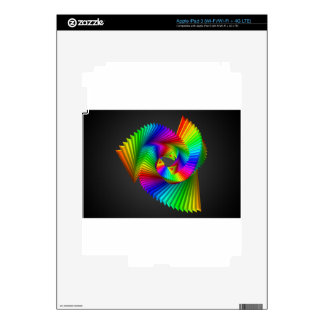 Abstract color design art iPad 3 decal