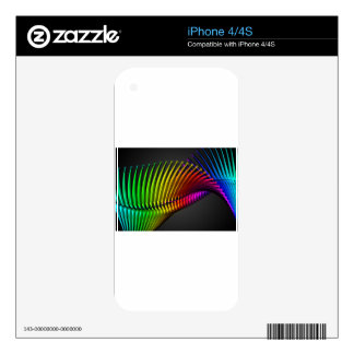 Abstract color design art iPhone 4S decal